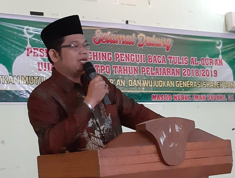 H Hendri Yazid Buka Coaching Penguji Alqur An Bks Tpq Tqa Kota Padang Kementerian Agama Provinsi Sumatera Barat