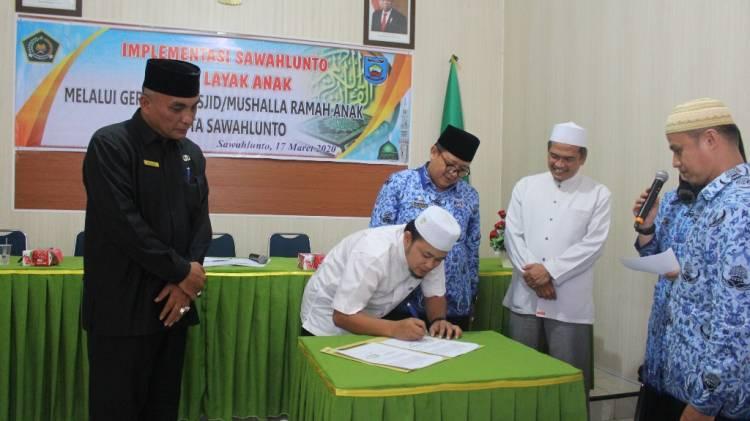 Kemenag Sawahlunto Dukung Inovasi Kota Layak Anak Melalui Gerakan Masjid/Musalla Ramah Anak