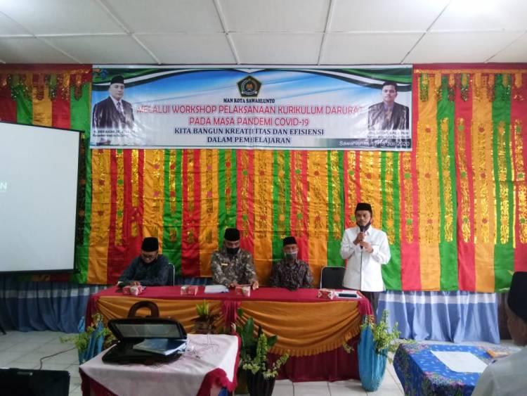 Kemenag Sawahlunto Ingatkan Jajaran Madrasah Tak Sepelekan Protokol Kesehatan