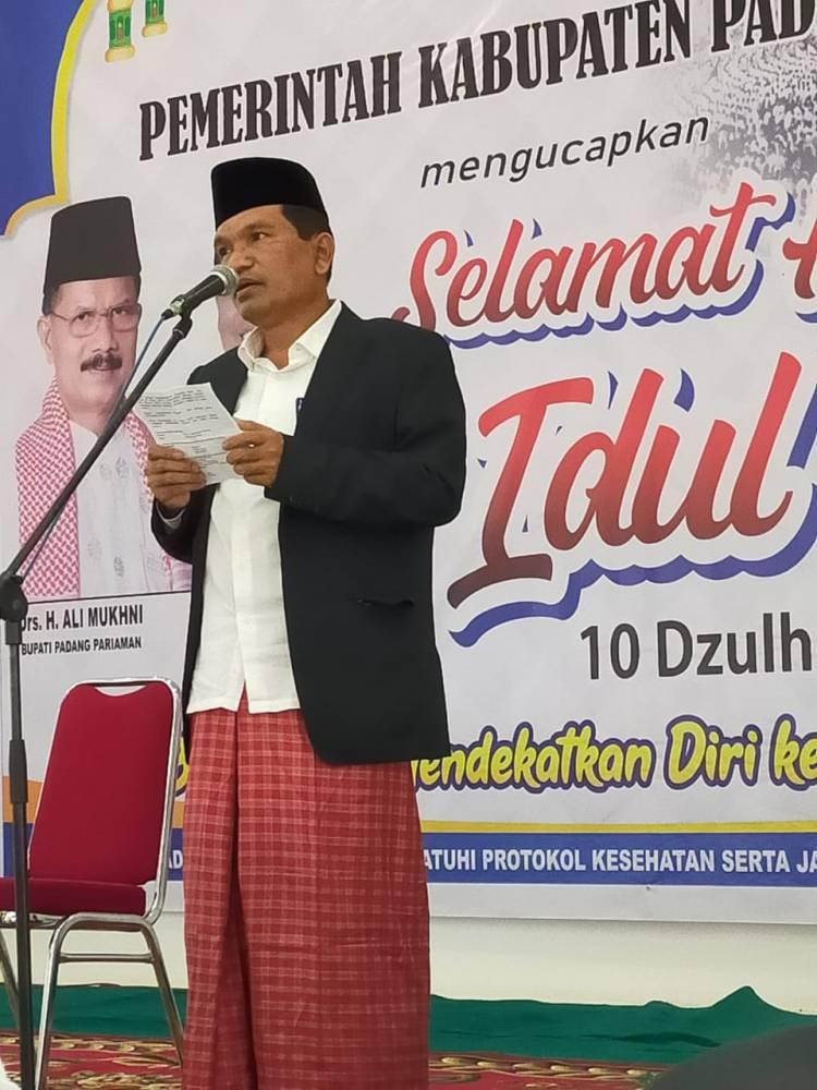 Padang Pariaman Gelar Shalat Idul Adha Perdana New Normal Covid-19