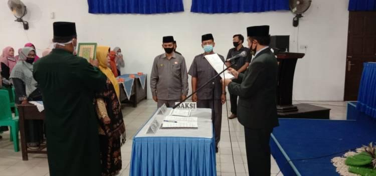 H. Ramza Husmen Lantik Kepala MTsN 1 Payakumbuh