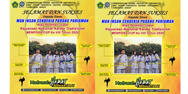 Bukan Hanya Sains, Siswa MAN IC Papar Bawa Pulang Medali di Kejuaraan Karate Nasional