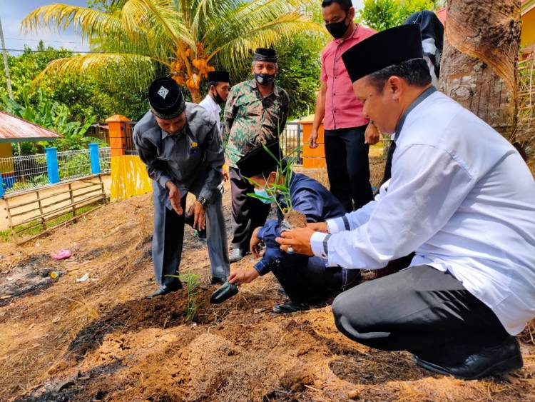Manfaatkan Lahan Kosong MTsN 4 Sijunjung Budidayakan Jahe