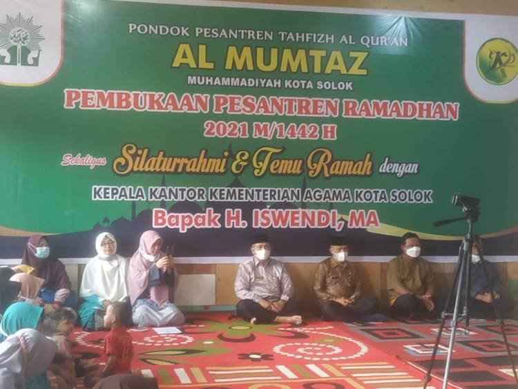 Kakan Kemenag Kota Solok, Resmikan Pesantren Ramadhan