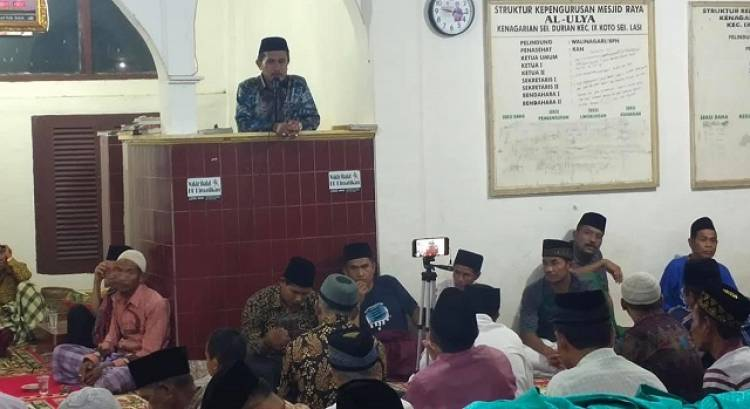 MTsN 1 Solok Turunkan Tim Ramadhan ke Nagari di IX Koto Sungai Lasi