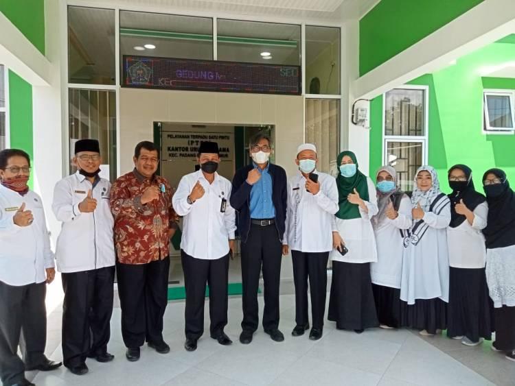Ditjen Bimas Islam Tinjau Gedung Balai Nikah dan Manasik Haji Kecamatan Padang Panjang Timur