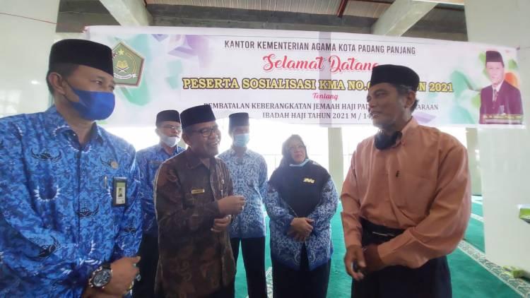 Kakanwil Hadiri Sosialisasi KMA No. 660 Tahun 2021 oleh Kakankemenag Padang Panjang
