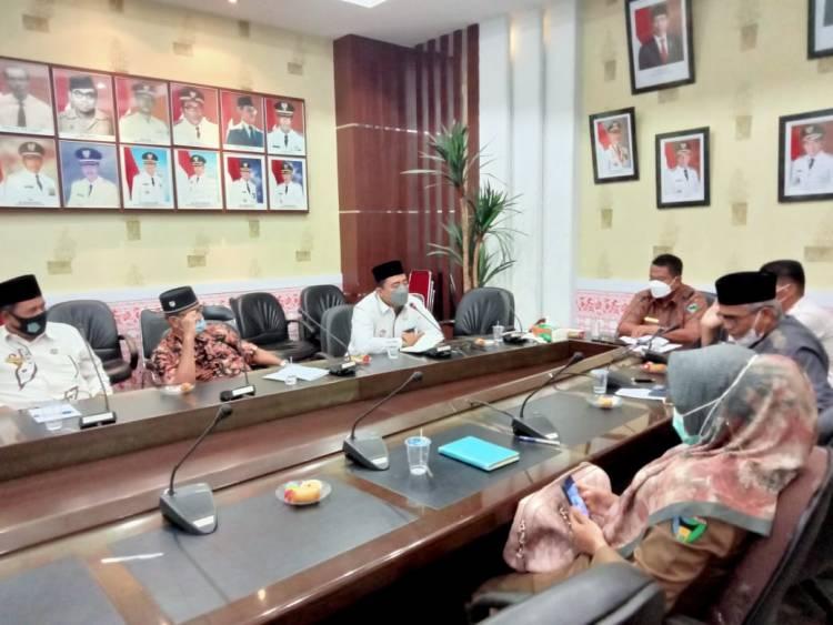 Hadir Pada Rapat PHBI Kakan Kemenag Pessel Sosialisasikan SE Menag Nomor 15 Dan 16 Tahun 2021