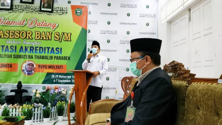Kakankemenag Agam Hadiri Visitasi Akreditasi secara Luring di MA Sumatera Thawalib Parabek