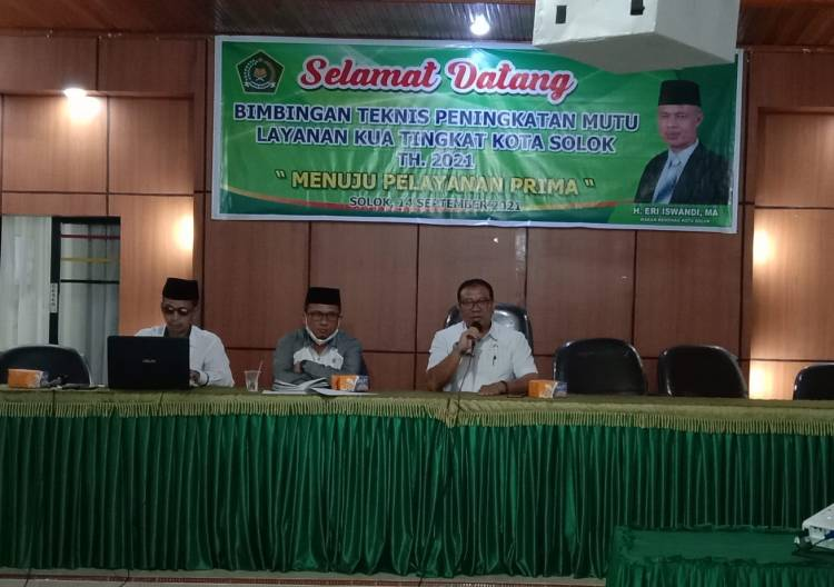 Kemenag Kota Solok Gelar Bimtek  Peningkatan Pelayanan KUA